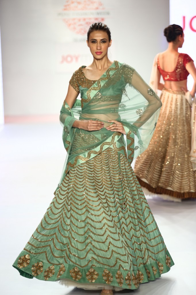 Designer Joy Mitra collection at Pune Fashion Week 2014 DAY 3