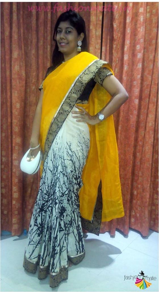 Designer Saree online review by fashion blog