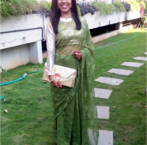 DIY Lace Saree- How to style up your simple lace saree for an elegant look.