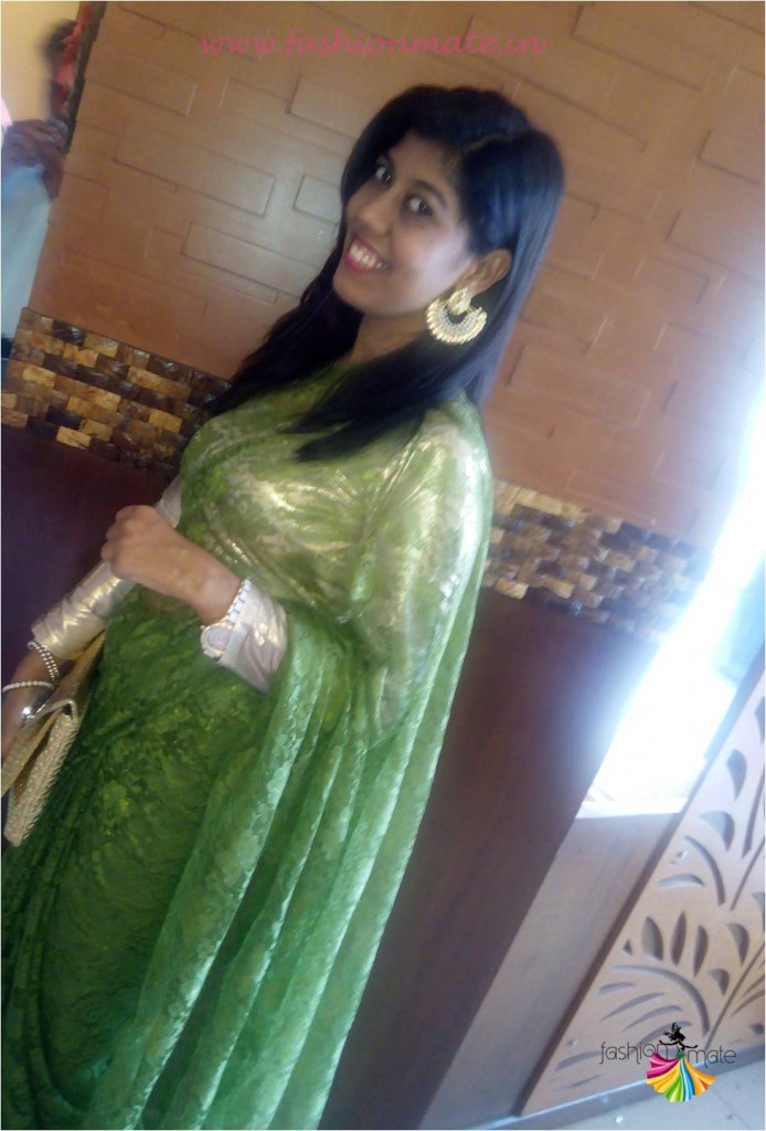 Indian fashion & Beauty blog- outfit of the day- Designer desi saree