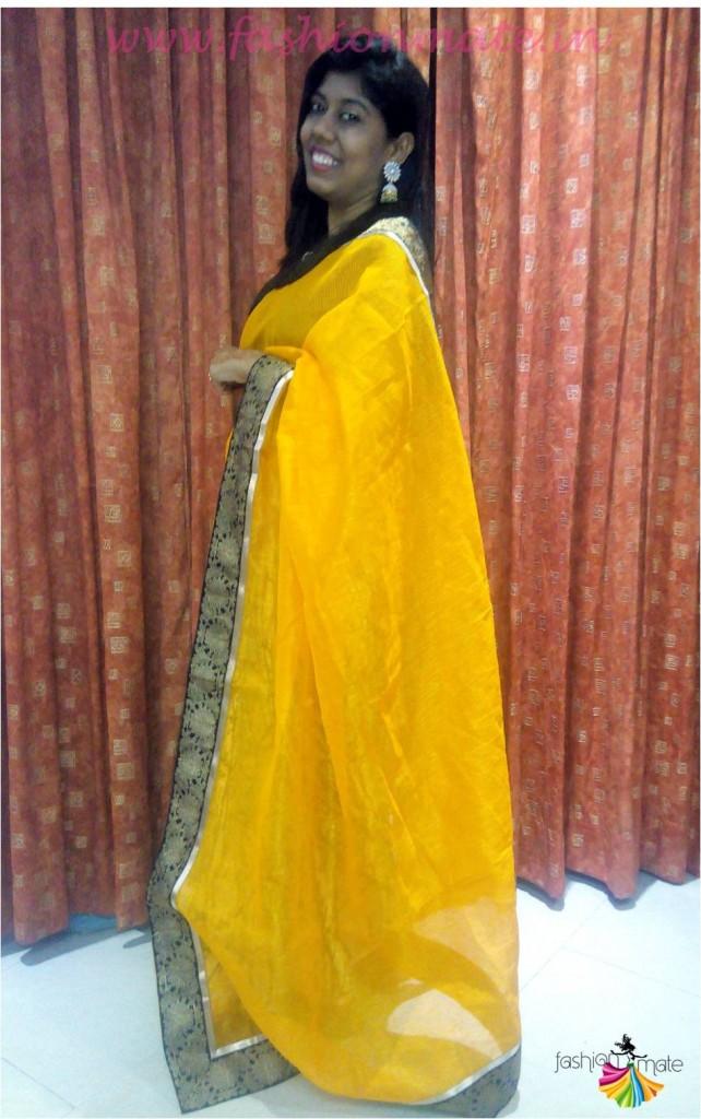 Online banarasi silk saree review - outfit of the day