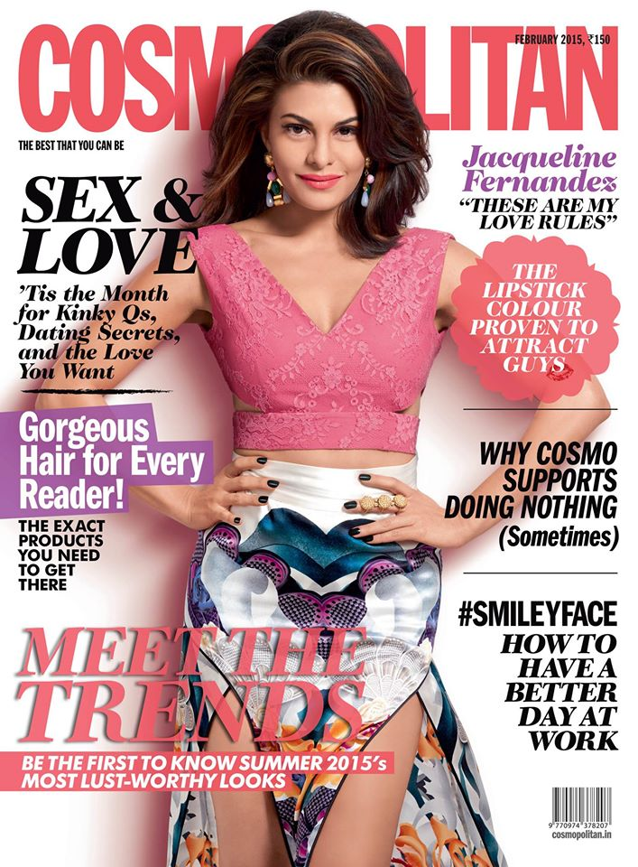 Jacqueline Fernandez on Cosmopolitan cover for feb 2015