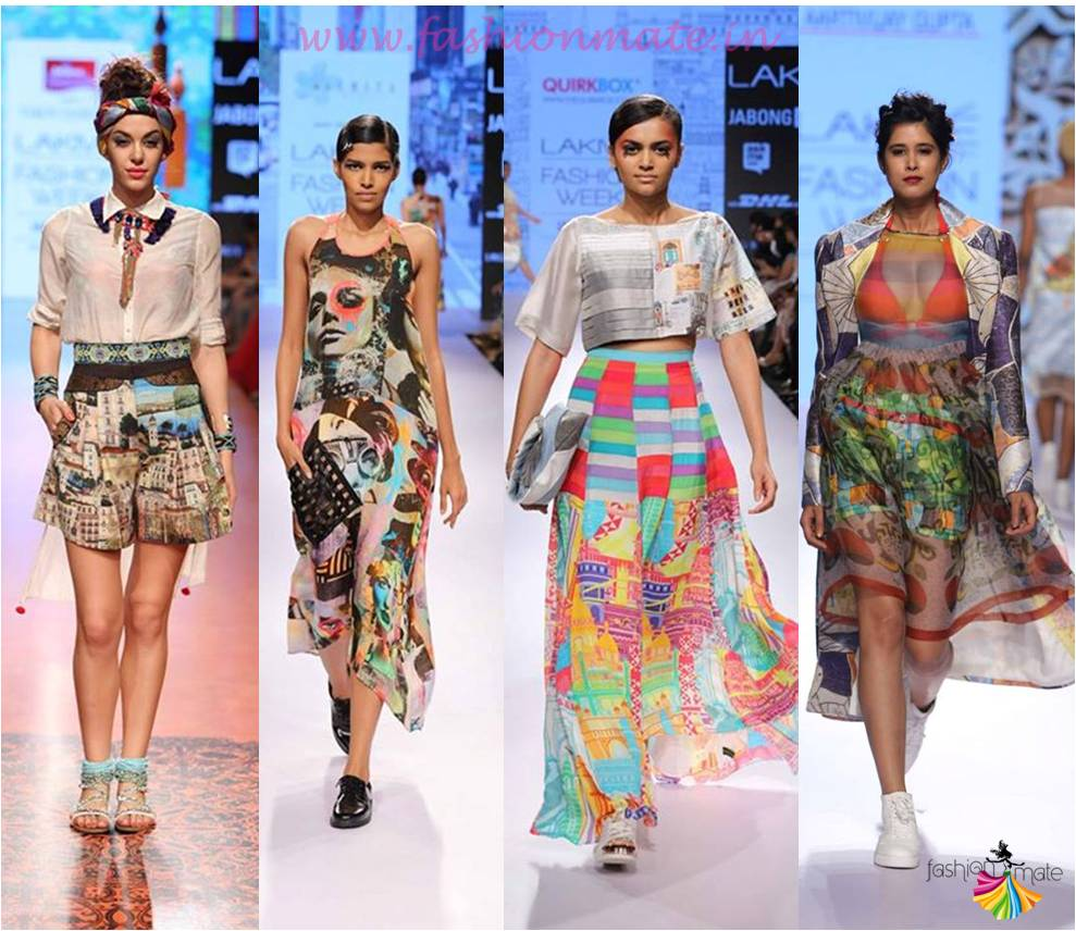 Graphic bohemian prints tribal fashion trends lfw 2015