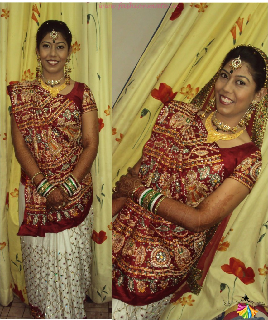 How to drape a saree gujarati style - Gujarati Panetar saree