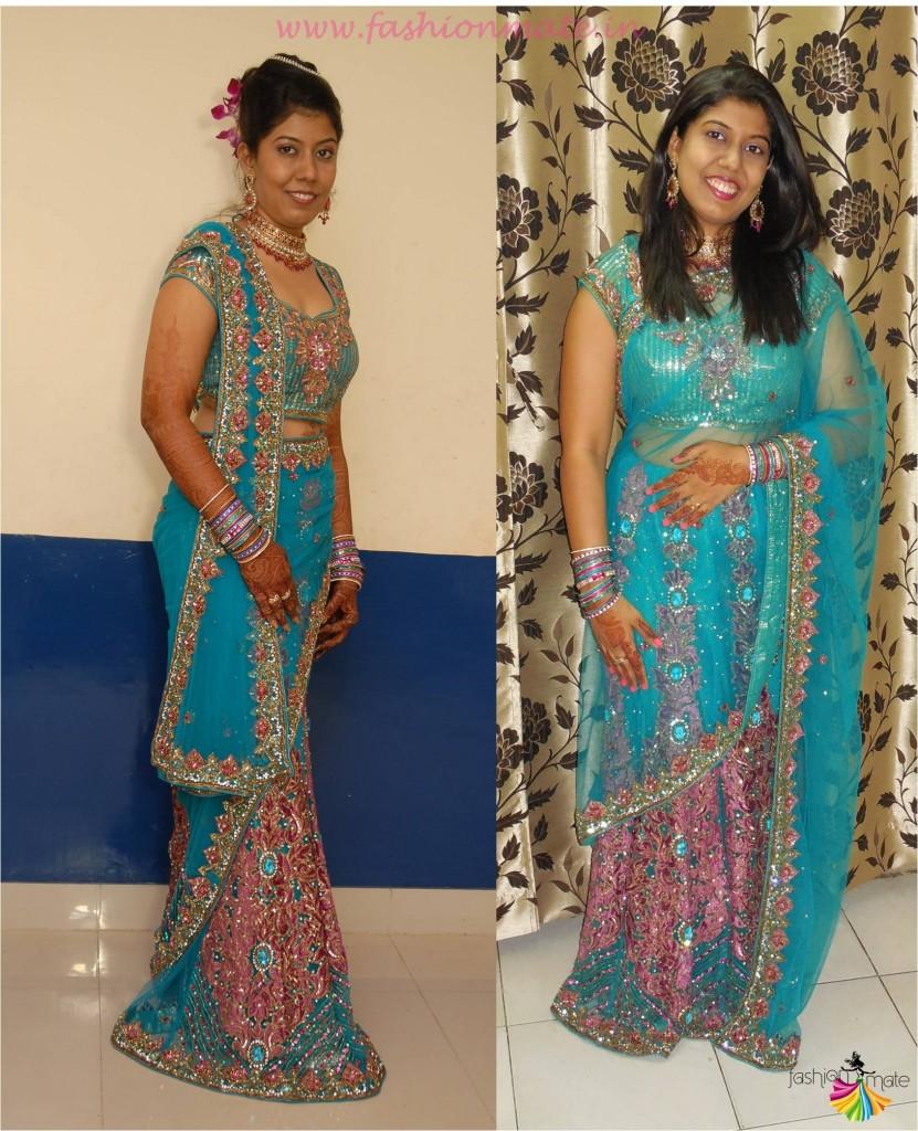 How to style your saree in lehenga drape - Lehenga Saree 2015