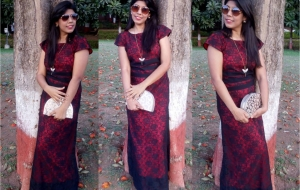 Celebrating late Valentine with Princess of faraway land – OOTD Lace Gown!