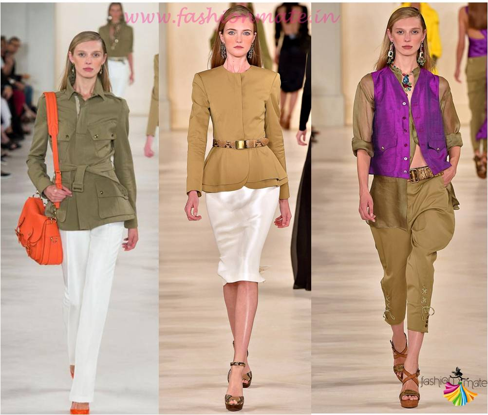 Spring Summer 2015 Trend report- Top fashion trend is Khakhi colour at ralph lauren