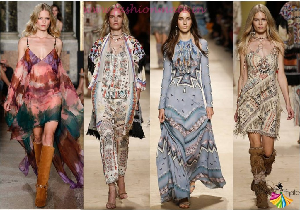 Top fashion trends 2015 - Spring summer trend report - Bohemian gown slingback