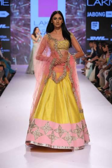 Anushree Reddy collection Lakme Fashion Week 2015 pastel lehengas