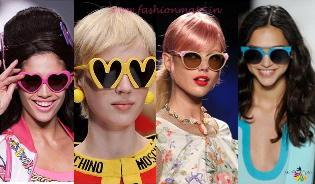Colourful quriky sunglasses fashion trends 2015