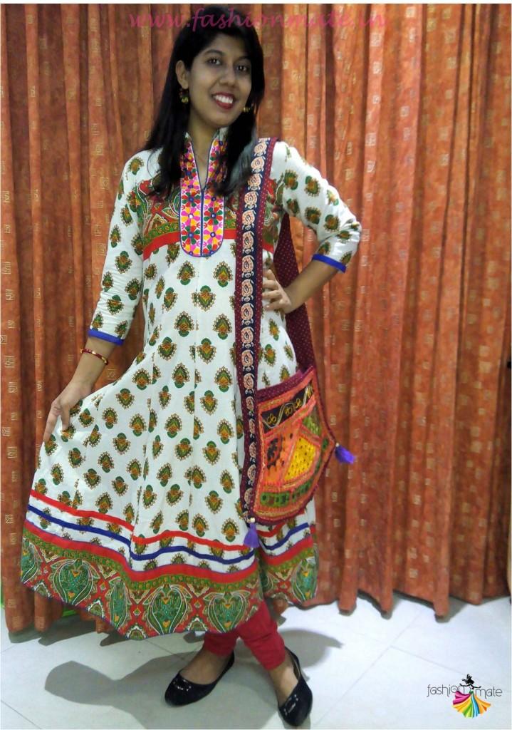 Cotton Anarkali Kurti - pregnancy outfits