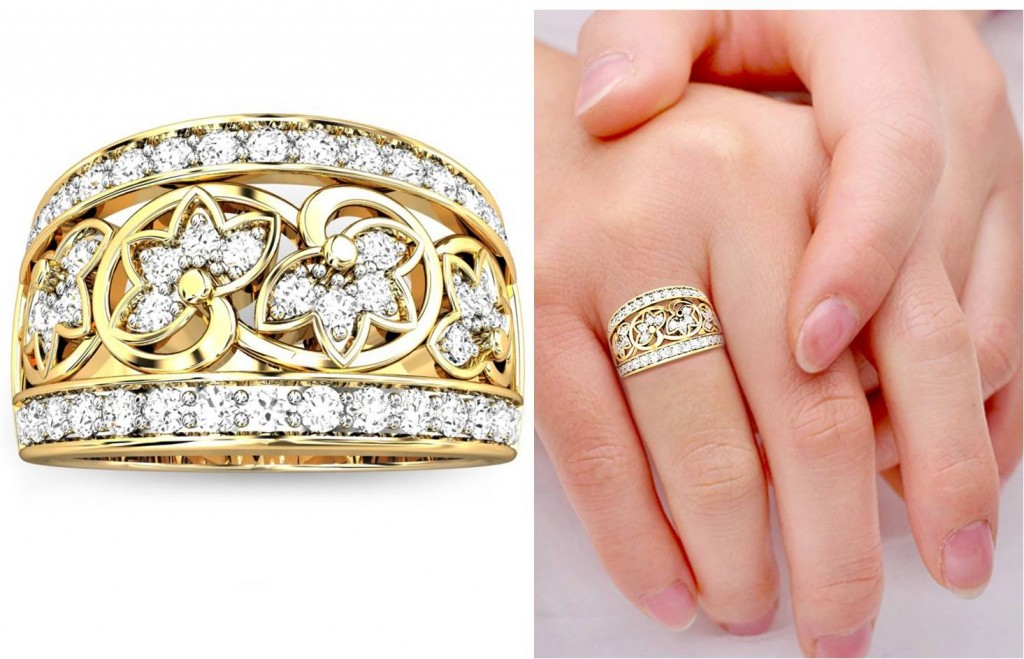 Embellished Broad Band style Diamond Rings for occasions