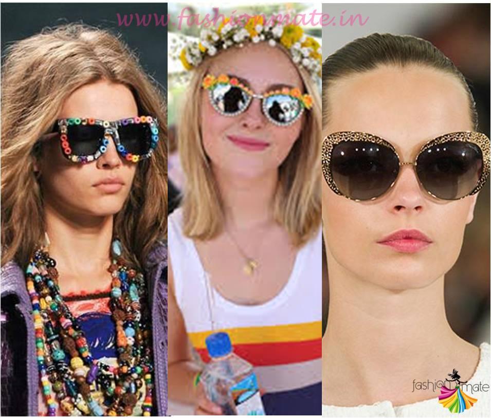 Embellished sunglasses- Summer fashion Trends 2015