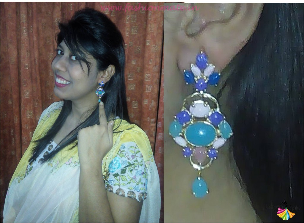 Multicolour stone earrings online budget fashion trends 2015