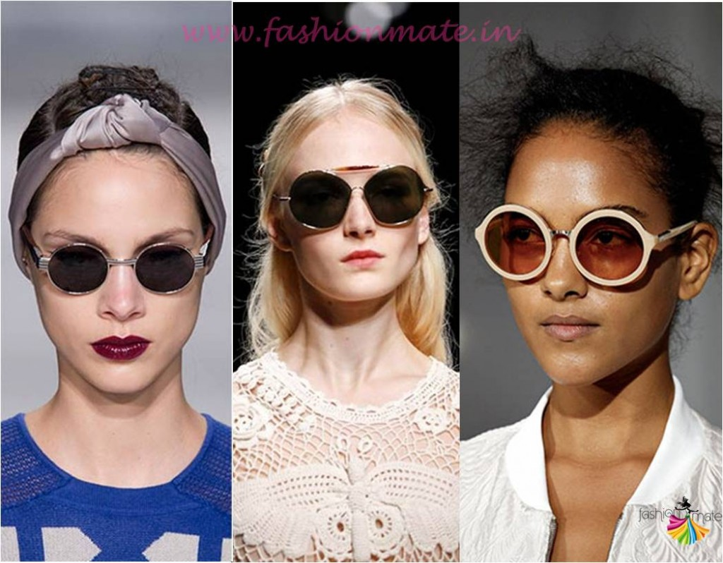 Round sunglasses lenon shades fashion trends spring summer 2015