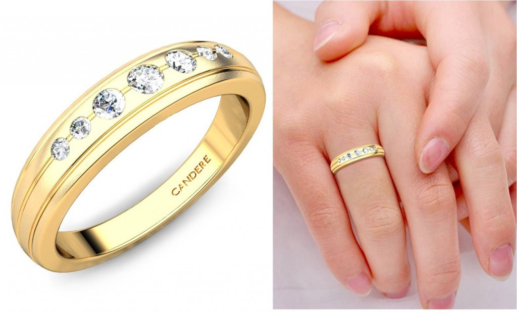 Simple traditional band ring - Engagement Diamond rings