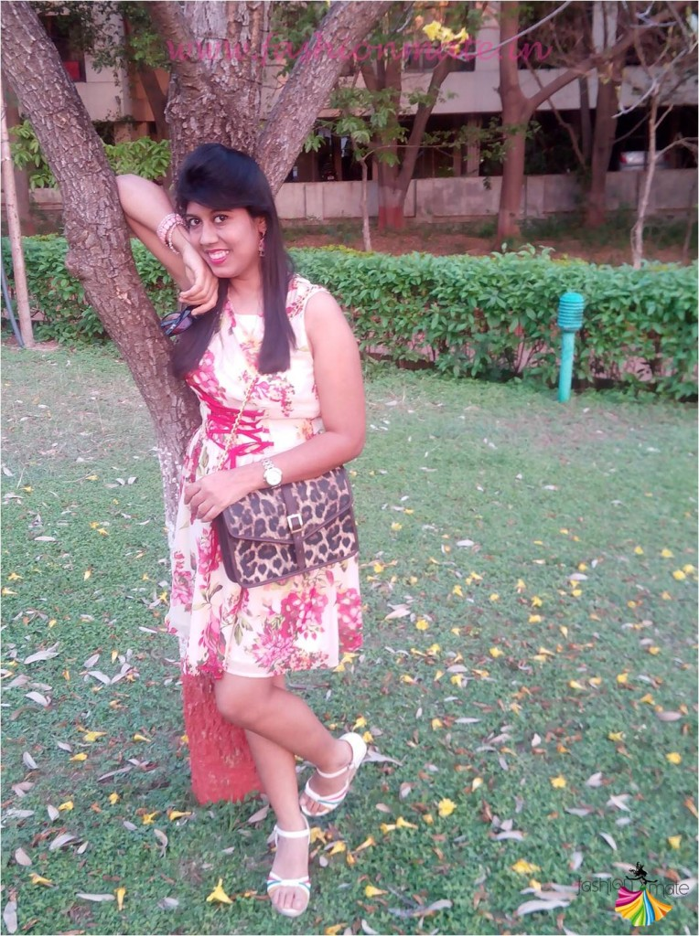 Spring summer fashion trends - floral dress & leopard prints