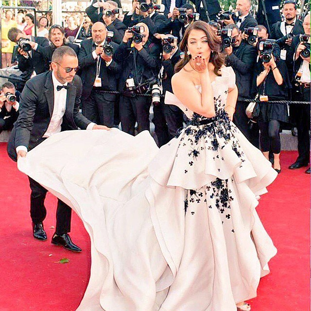 Aishwarya Rai in Ralph and Russo at Cannes 2015