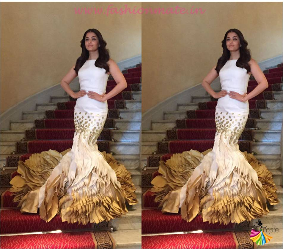 Aishwarya rai bachchan in Georges Chakra mermaid gown at Cannes 2015