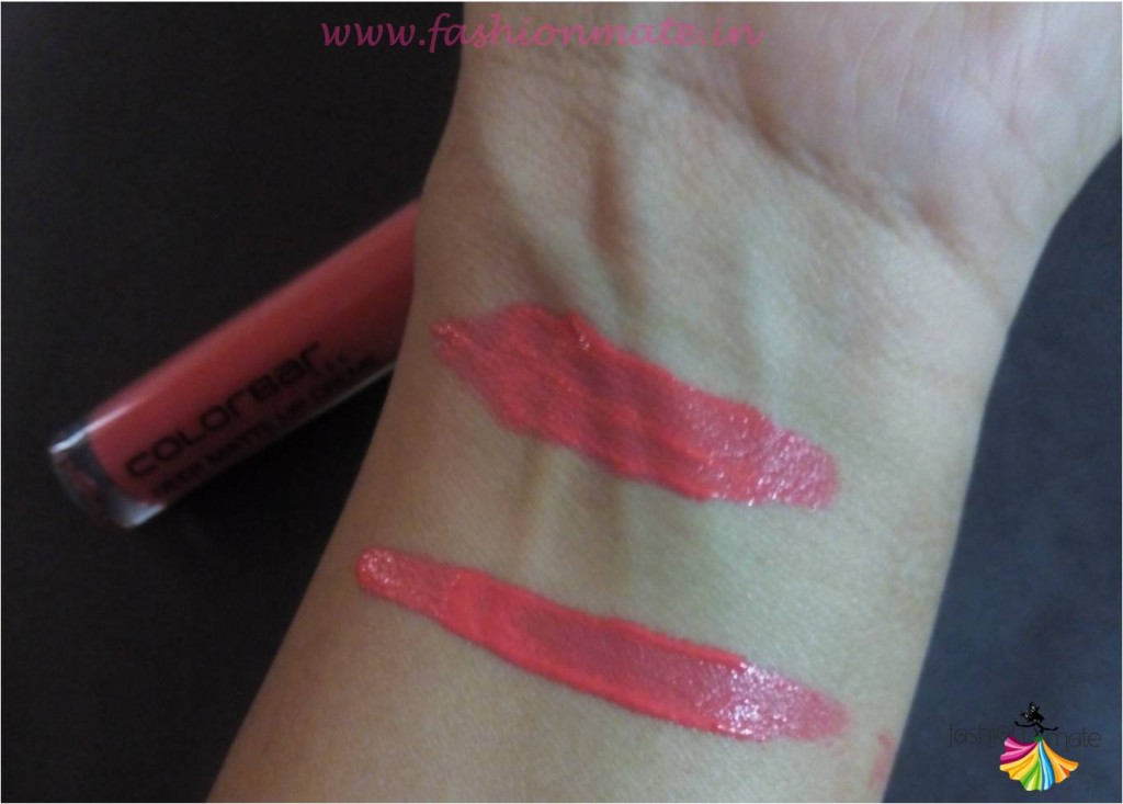 Colorbar deep blush shade lip creame swatches beauty blog