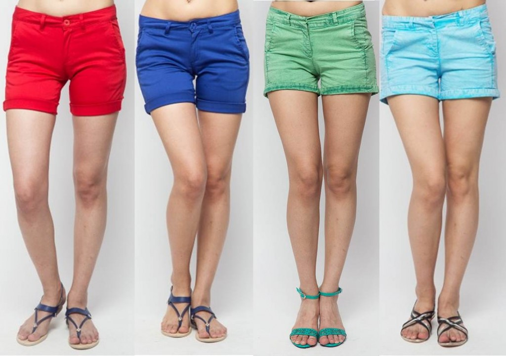 Colourful Shorts pastel shades summer trends 2015
