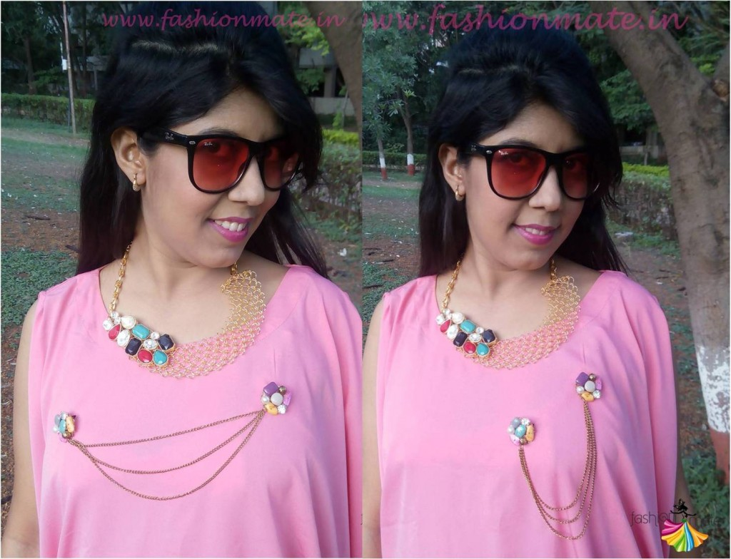 Different ways of Styling double Brooch - Indowestern jewellery trends 2015