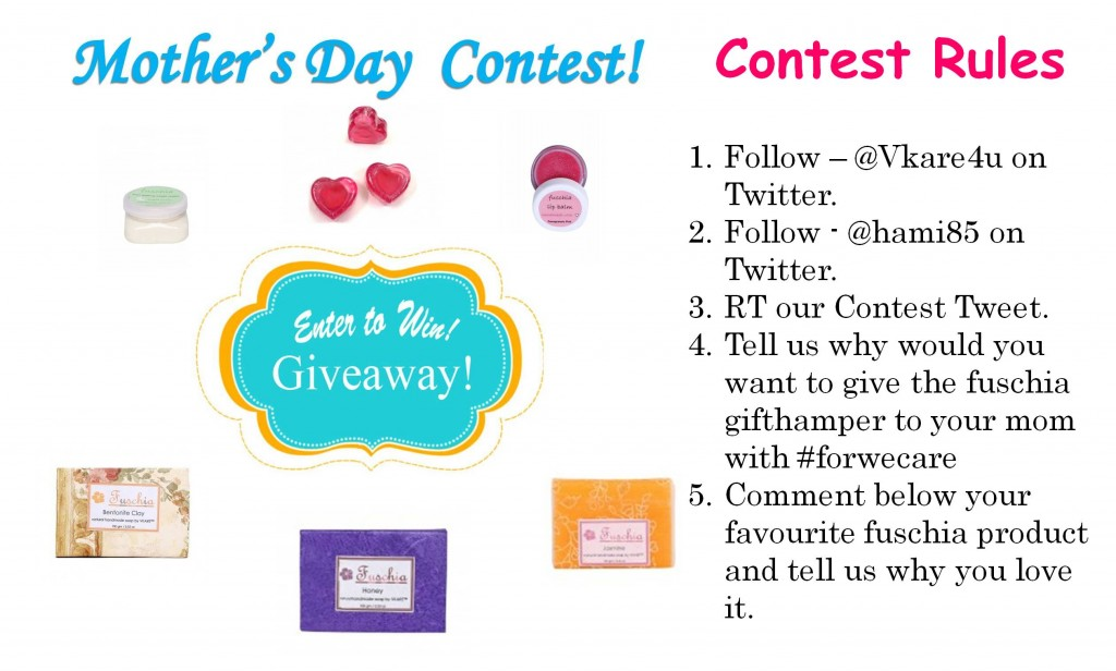 Fashionmate beauty blog contest - Fuschia mothers day giveaway