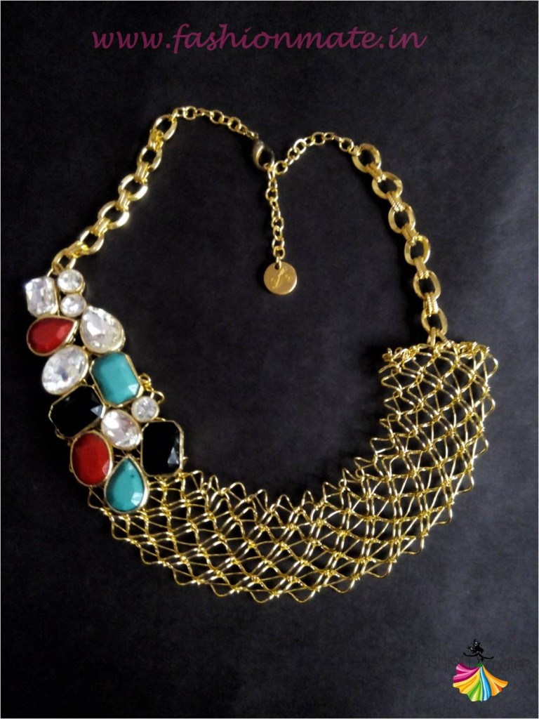 Gem stone statement bib necklace - Jewellery fashion trends 2015