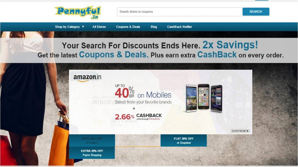 Online discount shopping in budget with cash back options pennyful review