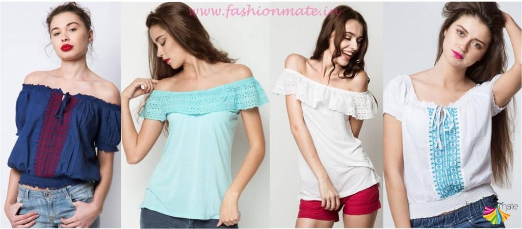 off shoulder cotton tops for Summer Trends 2015