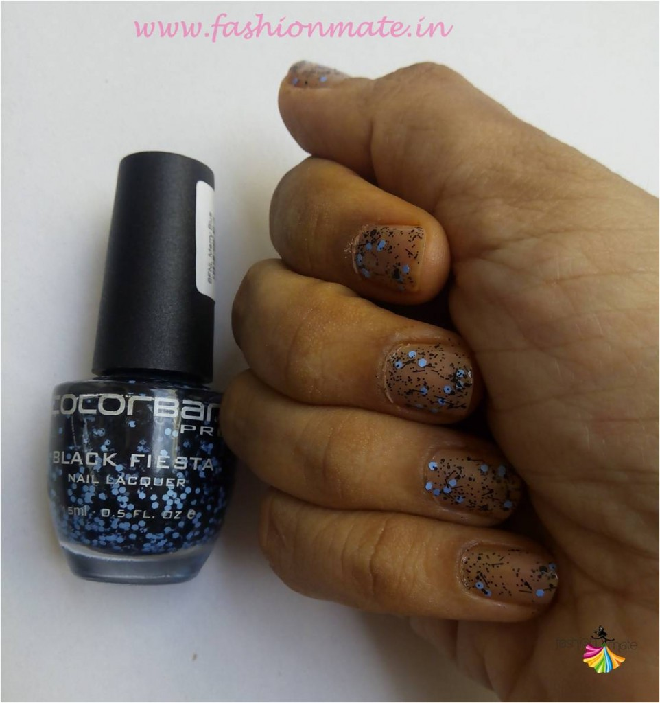Colorbar black fiesta nail lacquer review and swatches