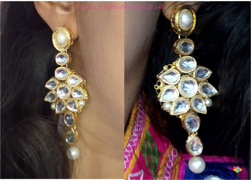 Confusion fashion accessories kundan pearl earrings review fashion blog