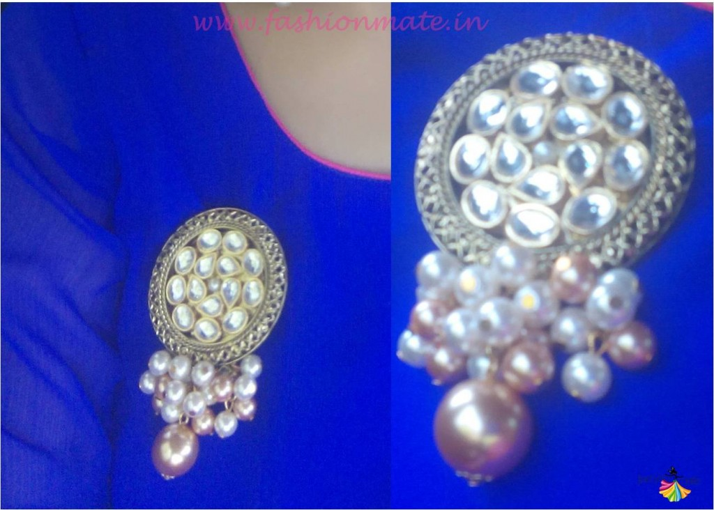 Confusion fashion accessories kundan & pearl wedding brooch