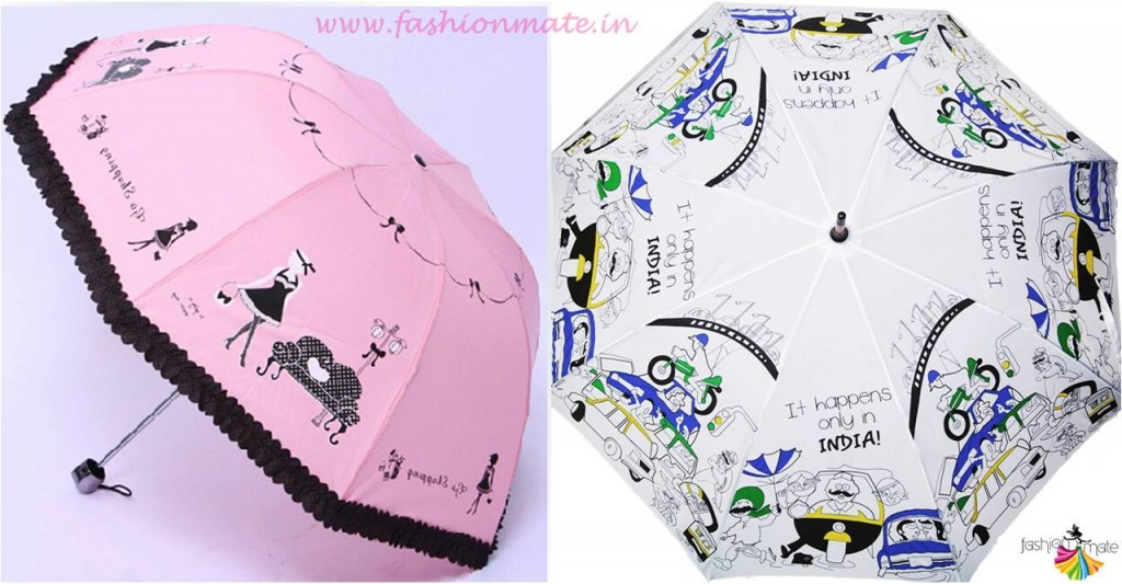Funky graphic print umbrella for monsoon fashion trends 2015