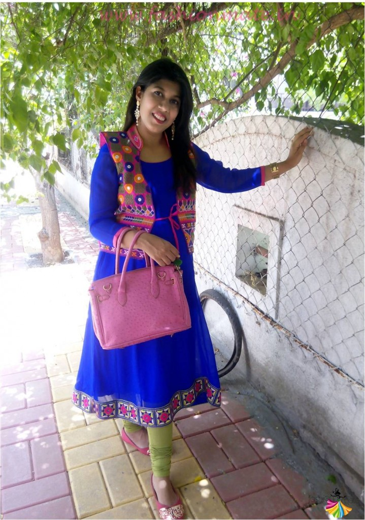 How to reuse your old saree into new anarkali outfit