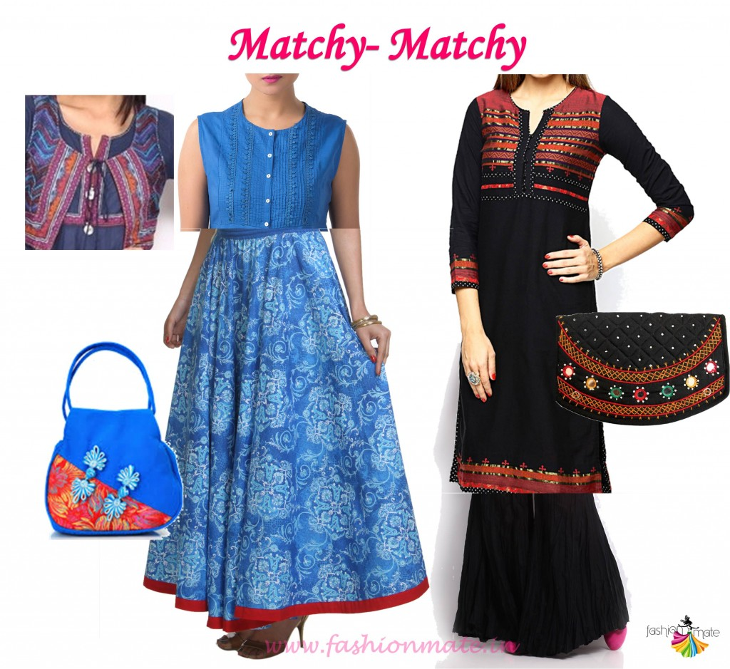 Indian ethnic fashion trends - colour cordinates