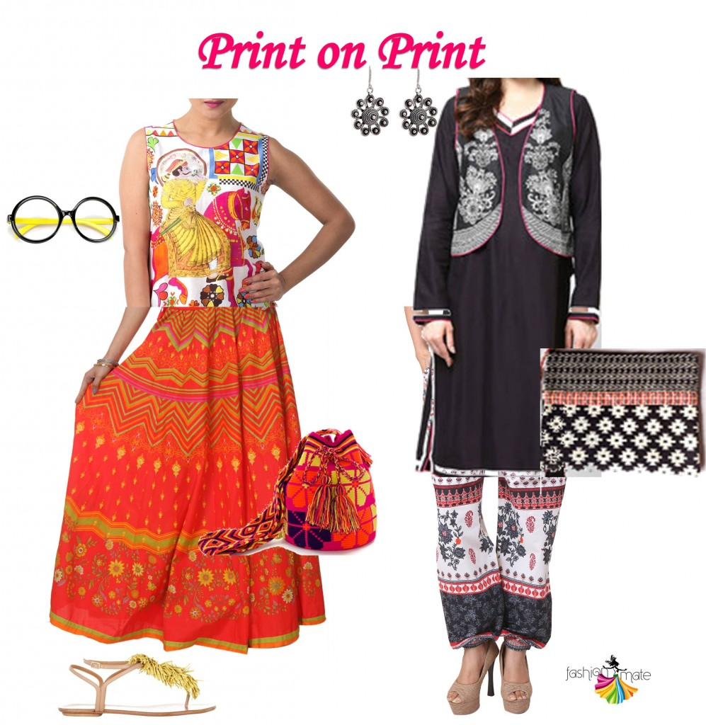Indian summer fashion trends- print mix
