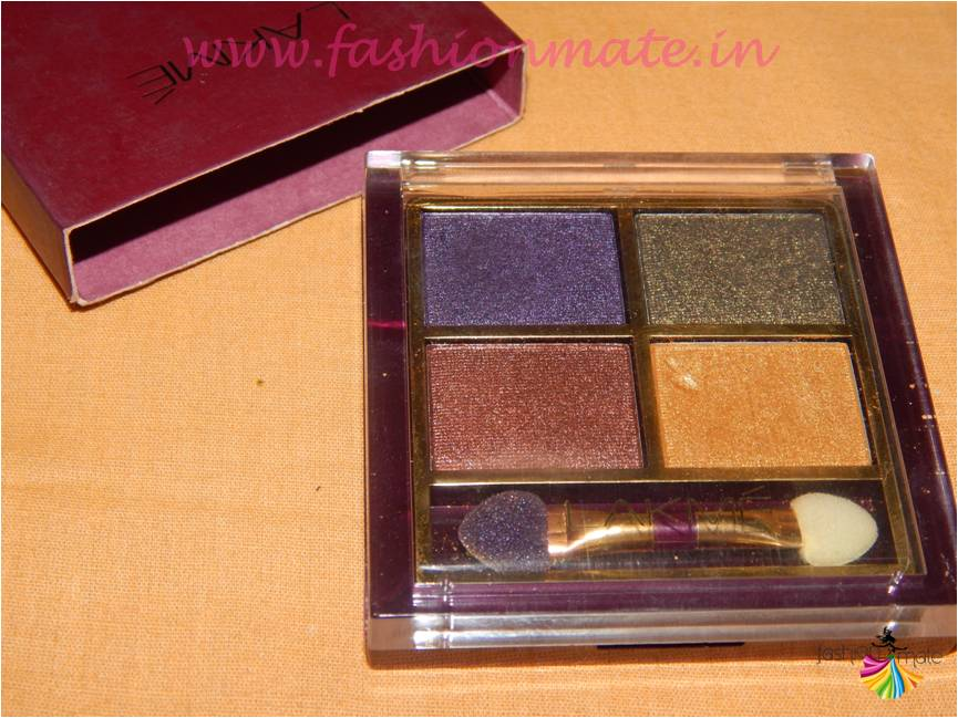 Lakme Tanjore Rush Eye shadow Quartet review swatches