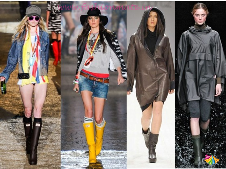 PU rain gum boots for monsoon fashion 2015 must have