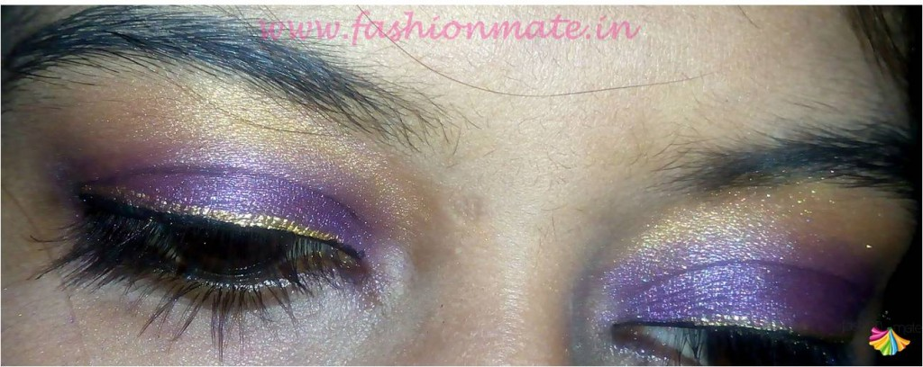 Peacock blue and gold eye shadow makeup for indian bride