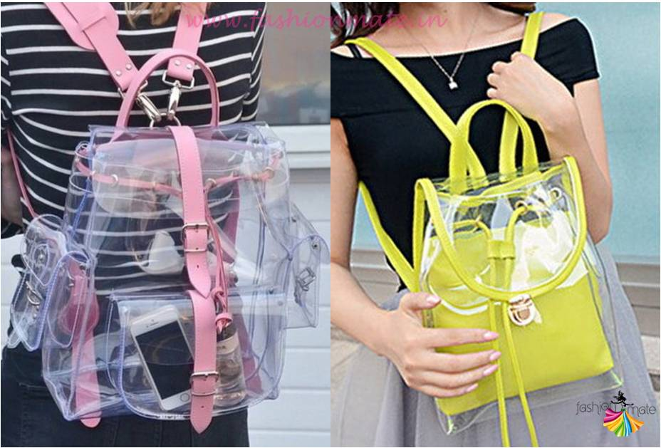 Transparent backpack bags for monsoon fashion rain wear