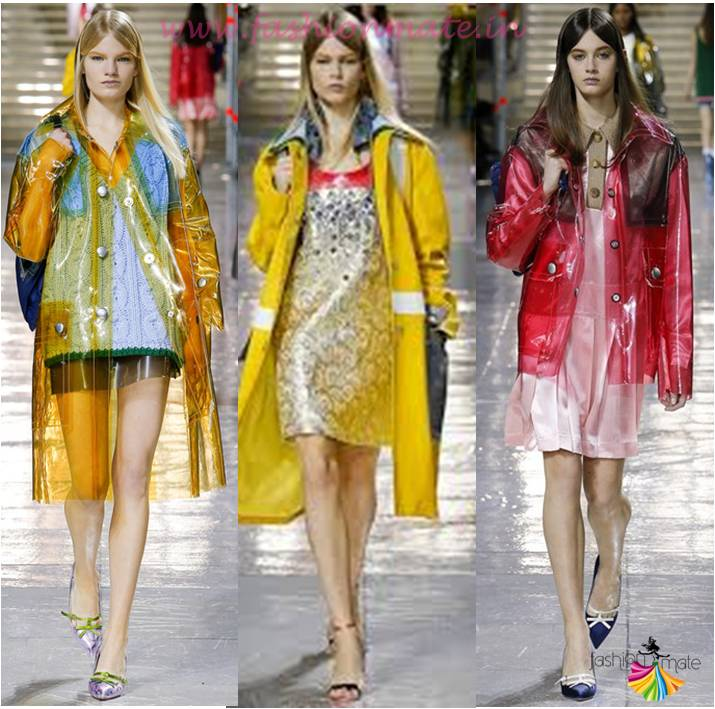 Transparent fun rain coats miu miu monsoon fashion 2015