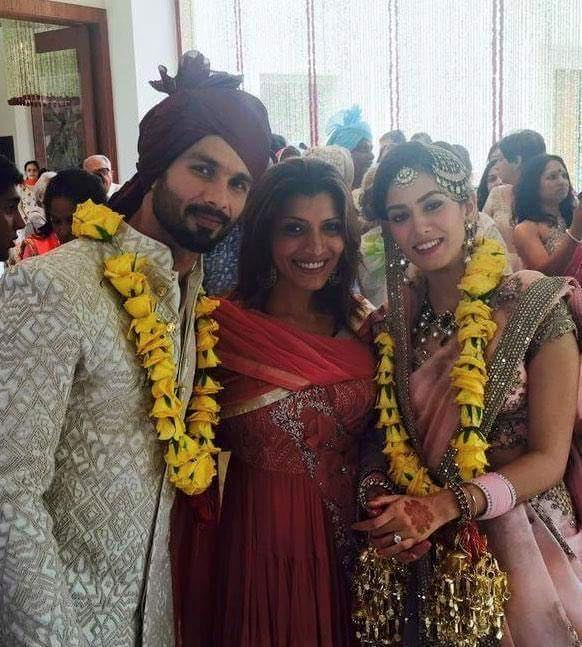 Shahid Kapoor and Mira Rajput at wedding reception