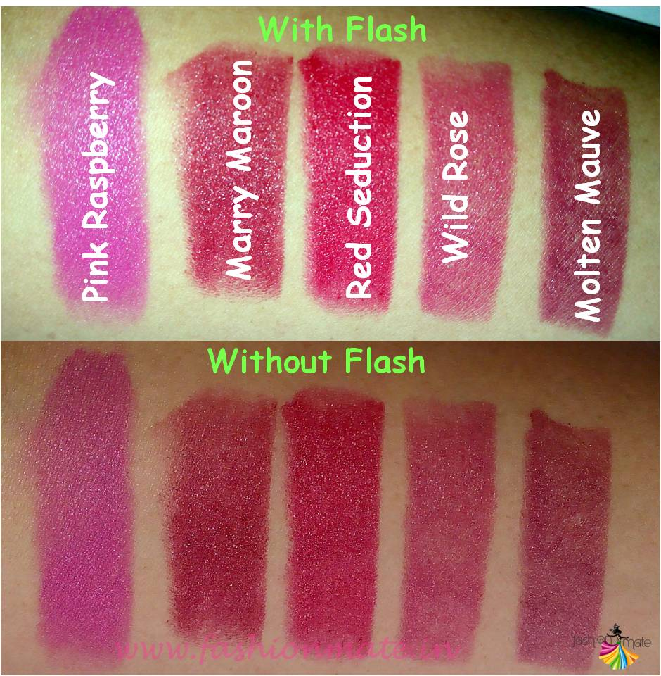 Indian beauty reviews - Oriflame the one matte lipstick shades
