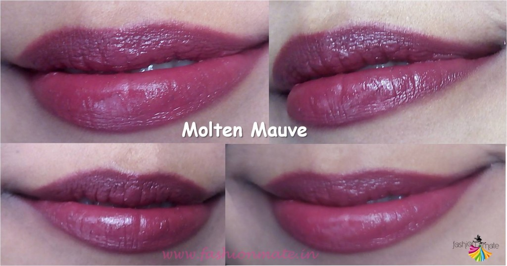 Oriflame the one matte lipstick in molten mauve review swatches