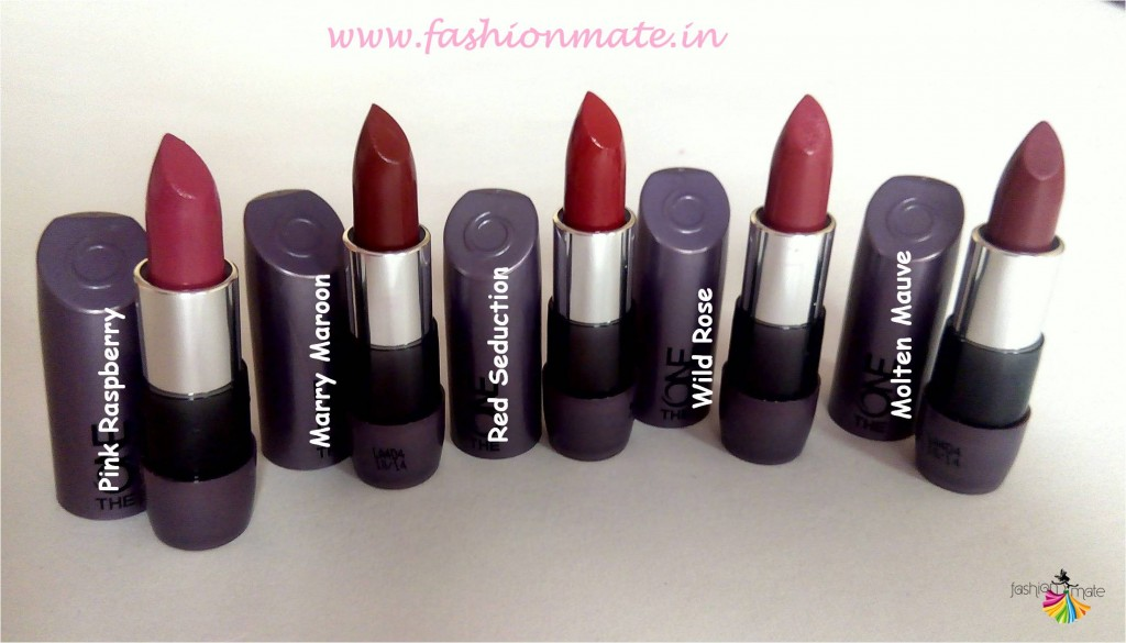 Oriflame the one matte lipstick range price and shades