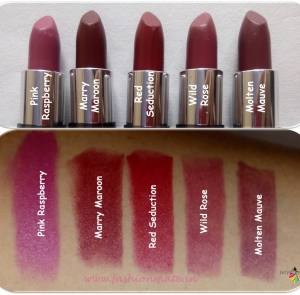 Beauty-Oriflame the One Matte Lipstick shades, review and swatches