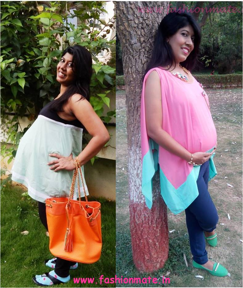 Top maternity fashion outfits - boho tops or kaftans