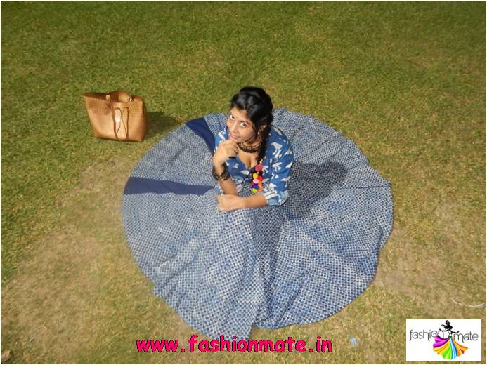 Designer handcrafted traditional outfit for Diwali festival
