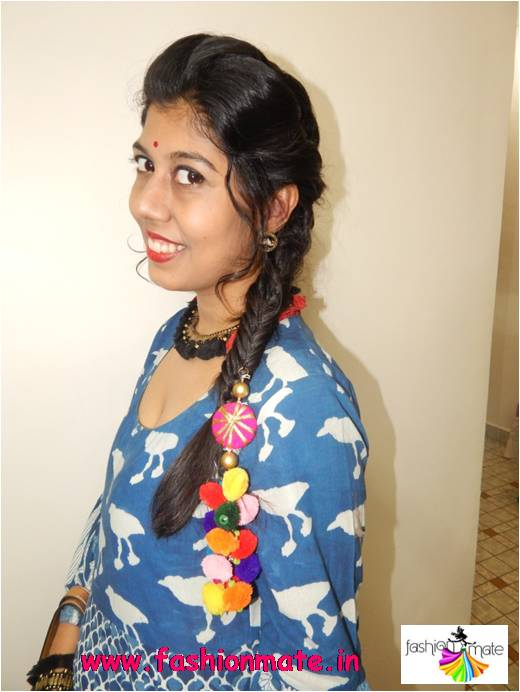 Fishtail hairstyle for Indian wear